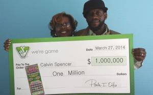 Calvin and Zatera Spencer pose with their latest prize.