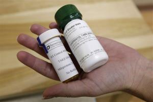 Bottles of abortion-inducing drug RU-486.