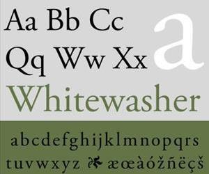 An example of Adobe's Garamond font.