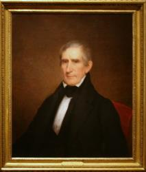 A portrait of William Henry Harrison.