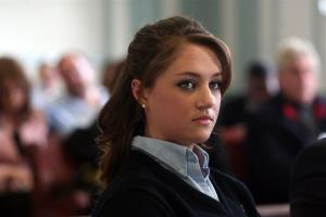 High school senior Rachel Canning, 18, appears in Morris County Superior Court in Morristown, NJ, Tuesday, March 4, 2014.