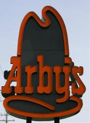 An Arby's sign in Columbus, Ohio.
