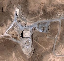 A satellite image shows a suspected nuclear reactor site in Syria before it was desroyed by Israeli air strikes. The reactor is similar to one built by North Korea.