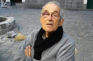 Dutch Father Francis Van Der Lugt is seen in Homs, Syria.
