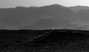 This picture is not evidence of an underground Martian civilization, NASA says.