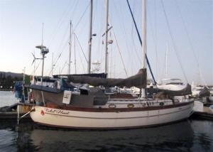 This undated file image provided by Sariah English shows the Rebel Heart sailboat.