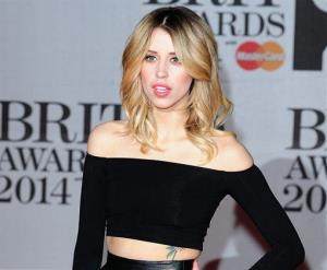In this Feb. 19, 2014 file photo Peaches Geldof is seen at the Brit Awards 2014, in London.