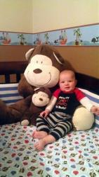 Skorjanc's 5-month-old son Duke is recovering from serious injuries.