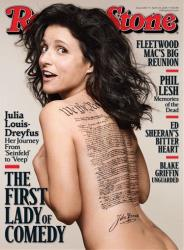 Te cover of the April 24, 2014 issue of Rolling Stone magazine featuring Veep star actress Julia Louis-Dreyfus.