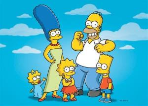 This undated publicity photo released by Fox shows characters from the animated series The Simpsons.