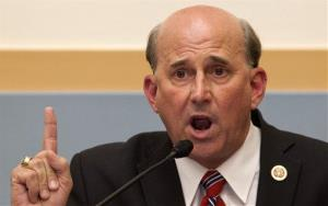 House Judiciary Committee member Rep. Louie Gohmert, R-Texas gestures as he questions Attorney General Eric Holder in this file photo.