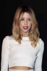 In this Tuesday, Feb. 25, 2014 file photo Peaches Geldof arrives to attend the ETAM's ready to wear fall/winter 2014-2015 fashion collection presented in Paris.