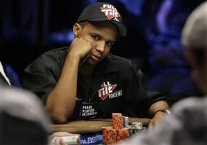 In this 2009 photo, Phil Ivey looks up during the World Series of Poker at the Rio Hotel and Casino in Las Vegas.
