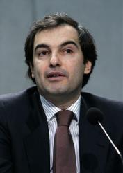In this Jan. 23, 2009 file photo, Henrique de Castro, Google's then Managing Director Media Solutions, speaks during a news conference at the Vatican's press room.