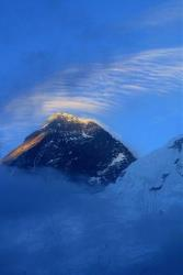 In this 2003 file photo, Mount Everest is seen from above Everest Base Camp, Nepal.