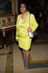 Aretha Franklin attends her 72nd birthday celebration on Saturday, March 22, 2014 in New York.