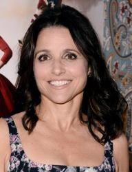Julia Louis-Dreyfus arrives at the Los Angeles premiere of the third season of Veep at Paramount Studios on Monday, March 24, 2014.
