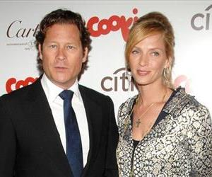 Uma Thurman and Arki Busson attend a National Audubon Society gala, Jan. 17, 2013, in New York.