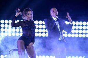 Beyonce, left, and Jay-Z perform Drunk in Love at the 56th annual Grammy Awards at Staples Center on Sunday, Jan. 26, 2014, in Los Angeles.