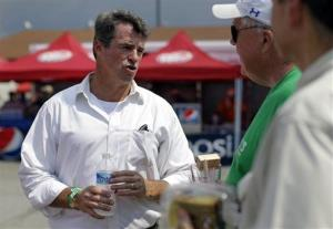 Maryland Attorney General Doug Gansler, candidate for Maryland governor, chats with festival-goers in Crisfield, Md., Wednesday, July 17, 2013.
