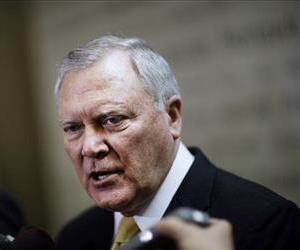 Georgia Gov. Nathan Deal speaks to the media at the Statehouse, Wednesday, March 5, 2014, in Atlanta.