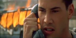 A screenshot from the trailer for 'Speed.'