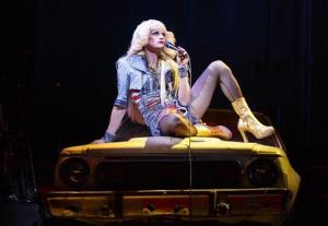 This image released by Boneau/Bryan-Brown shows Neil Patrick Harris in a scene from Hedwig and the Angry Inch, at the Belasco Theatre in New York.