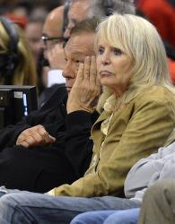 Los Angeles Clippers owner Donald Sterling, left, and his wife Rochelle look on during a game May 19, 2012, in Los Angeles.