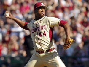 Florida State relief pitcher Jameis Winston.