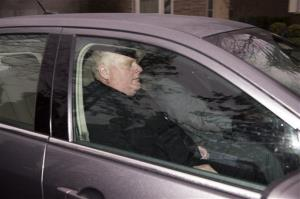 Toronto Mayor Rob Ford leaves his home early yesterday.