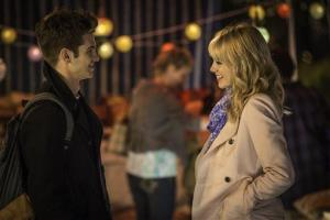 This image released by Sony Pictures shows Andrew Garfield and Emma Stone in The Amazing Spider-Man 2.