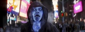 This image released by Sony Pictures shows Jamie Foxx as Electro in the film, The Amazing Spider-Man 2.