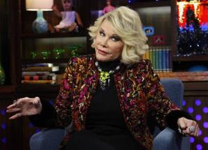 In this photograph taken by AP Images for Bravo, Joan Rivers appears on Bravo's Watch What Happens Live show on Thursday, Feb. 16, 2012, in New York.
