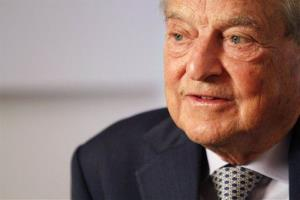 In this Tuesday, Sept. 7, 2010, file photo, philanthropist George Soros speaks during an interview with the AP in New York.