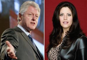 Bill Clinton and Monica Lewinsky are seen in a combo photo.