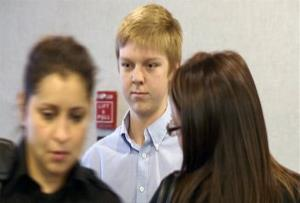 In this December 2013 image taken from a video by KDFW-FOX 4, Ethan Couch is seen during a court hearing in Fort Worth, Texas.