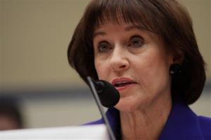 Former Internal Revenue Service (IRS) official Lois Lerner speaks on Capitol Hill in Washington, Wednesday, March 5, 2014.