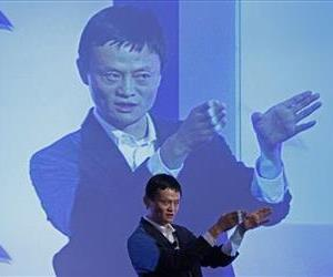Jack Ma, chairman of China's largest e-commerce firm Alibaba Group, gestures during a conference in Hong Kong, March 20, 2012.