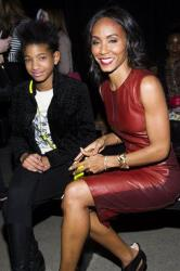 Willow Smith, left, and Jada Pinkett Smith attend the Narciso Rodriguez fall 2013 fashion show on Tuesday,  Feb. 12, 2013 in New York.