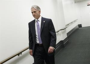 In this May 7, 2014, photo, Rep. Trey Gowdy, R-S.C., leaves a closed-door Republican strategy meeting at the Capitol in Washington. He will lead the investigative committee.