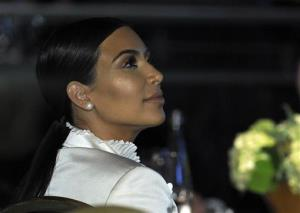Kim Kardashian attends the USC Shoah Foundation's 20th anniversary Ambassadors for Humanity gala in Los Angeles, Wednesday, May 7, 2014.