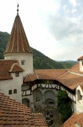 A view from inside the walls of Bran Castle, near the Transylvanian city of Brasov.