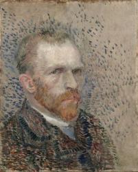 This photo suppiled by The Morgan Library & Museum in New York shows Vincent Van Gogh's  1887 Self-Portrait: Three Quarters to the Right.
