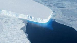 This photo provided by NASA shows the Thwaites Glacier in West Antarctic.