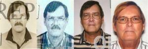 This combination of photos provided by the Federal Bureau of Investigation shows William James Vahey in 1986, 1995, 2004 and 2013.