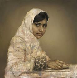 The portrait by Jonathan Yeo of Malala Yousafzai.