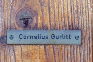 The name plate of the house of Cornelius Gurlitt, , is pictured  at a property on Thursday, Feb. 13, 2014 in Salzburg, Austria.