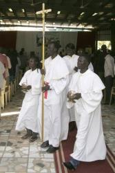 Sudanese Christians hold Christmas mass in Khartoum, Sudan, Tuesday, Dec. 25, 2012.