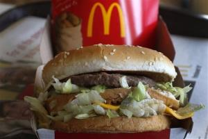 A Big Mac at a McDonald's in Robinson Township, Pa.