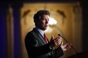 Rand Paul address attendees during the Republican National Committee spring meeting last week.